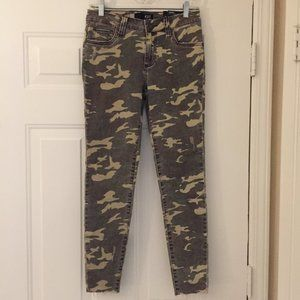 Kut from the Kloth Connie Camo Ankle Skinny Jeans
